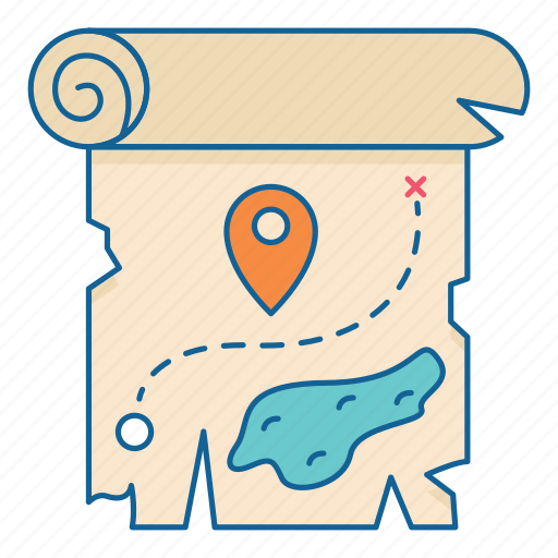 Holiday, map, place, travel, treasure, vacation, pin icon - Download on Iconfinder