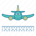 airport, arriving, holiday, plane, transportation, travel, vacation icon