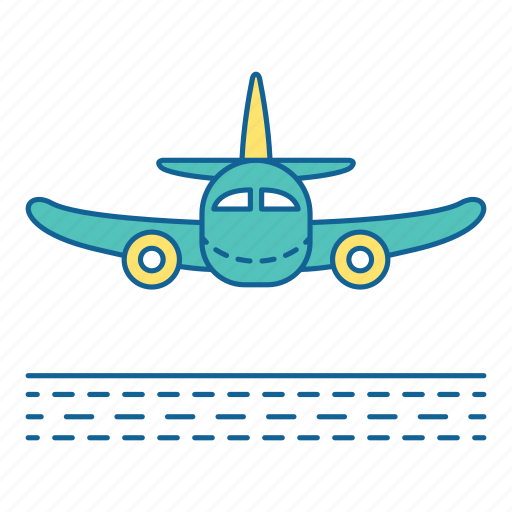 Airport, arriving, holiday, plane, transportation, travel, vacation icon - Download on Iconfinder