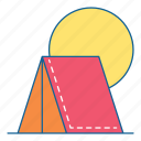 camp, hiking, holiday, outdoor, tourism, travel, vacation icon