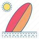beach, holiday, summer, sun, surfing, travel, vacation icon