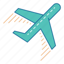 airport, fly, go, holiday, plane, travel, vacation icon
