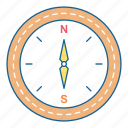 compass, direction, gps, holiday, navigation, travel, vacation icon