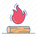 camp, fire, holiday, travel, vacation, wood icon