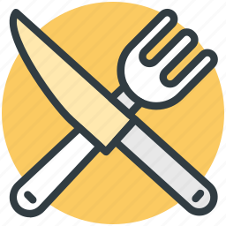 cutlery, eating, fork, knife, restaurant icon