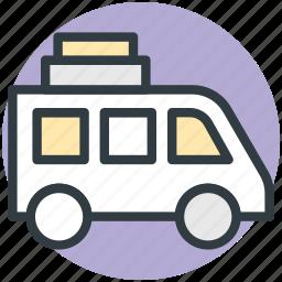 coach, journey, tour bus, tourism, transport, travel icon
