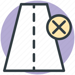 cross sign, highway, pathway, road, wrong direction, wrong way icon