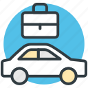 car, journey, office bag, transport, travel, voyage icon