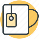 beverage, cup, drink, instant tea, mug, tea, tea bag, tea mug icon