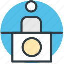 customer service, front desk, hotel manager, hotel reception, reception icon