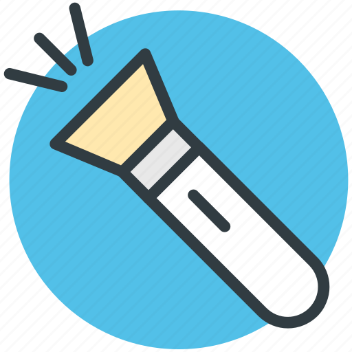 electric light, flashlight, light, pocket torch, torch icon