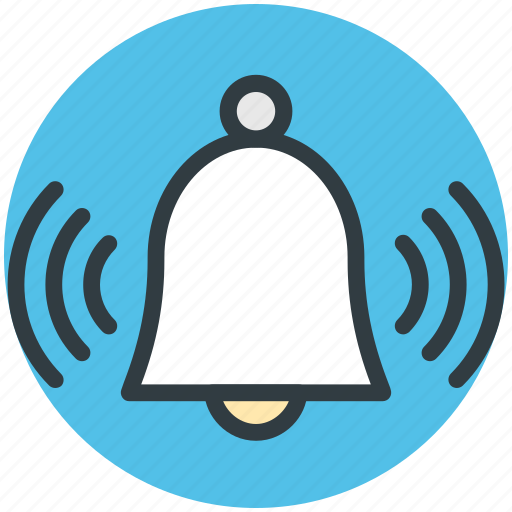 alarm, alert, bell, mobile ui, ringing bell, web ui icon