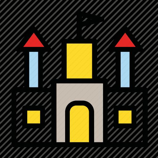 build, building, castle, house, landmark icon