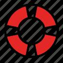 boat, lifebuoy, round, safety, support icon