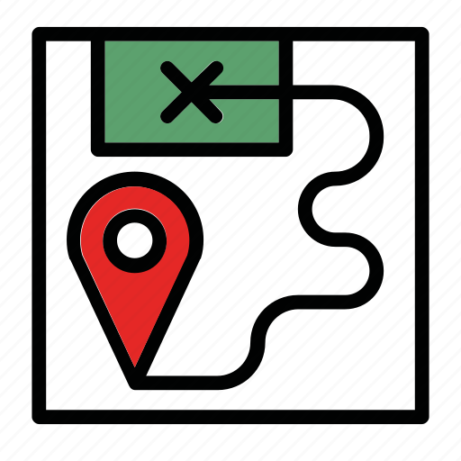 cross, destination, location, map, point icon