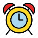 alarm, arrow, clock, notification, time icon
