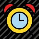 alarm, arrow, clock, notification, time