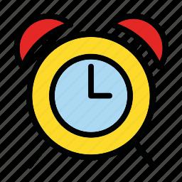 alarm, arrow, clock, notification, time icon