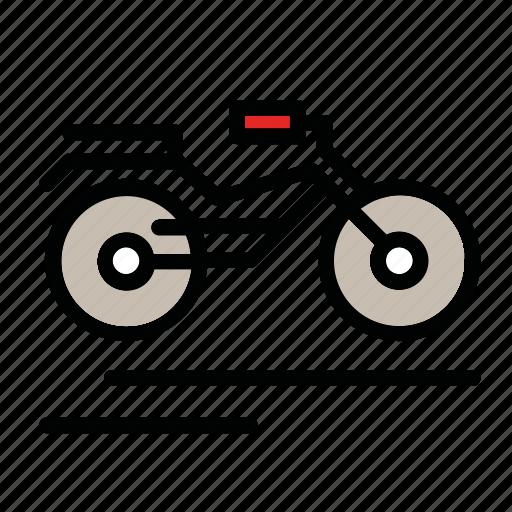 bike, motocycle, motor, transport, vehicle icon