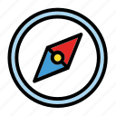arrow, compass, east, north, south, west icon