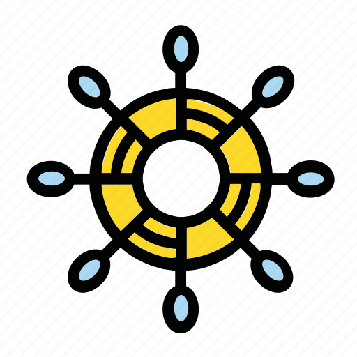 boat, control, helm, rule, ship icon