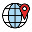 location, map, places, point icon