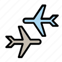 airport, departure, flight, planes icon