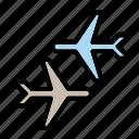 airport, departure, flight, planes