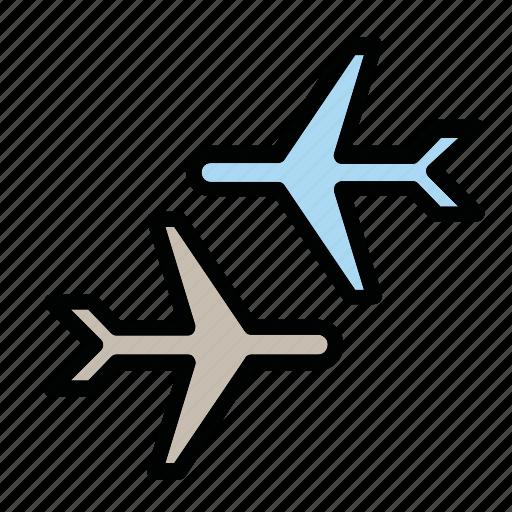 airport, departure, flight, planes icon