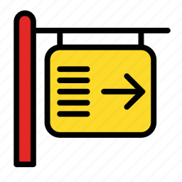 airport, arrow, departure, pointer, sign icon
