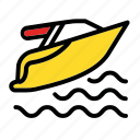 scooter, sea, sport, transport, vehicle, water icon