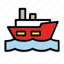 boat, sea, ship, transport, vehicle, water icon