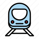 train, tram, transport, vehicle icon