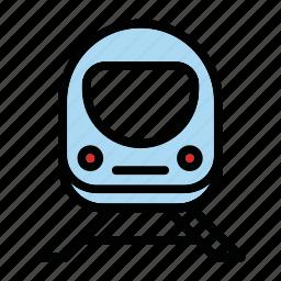 train, tram, transport, vehicle icon