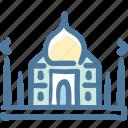india, landmark, sight, taj mahal, tajmahal, tourism, travel icon