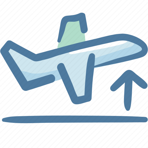 airplane, departure, flight, fly, plane, sky, travel icon