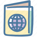 atlas, id, map, maps, passport, travel icon