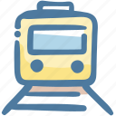 rail transport, railway, train, transport, vehicle icon