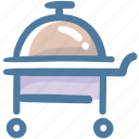 cloche, food, food serving, hotel, hotel service, room service icon