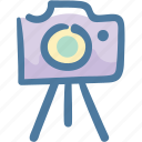 camera, memory, photo, picture, shoot, travel, tripod icon