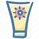 cream, lotion, summer, sun block, suncream, sunscreen icon