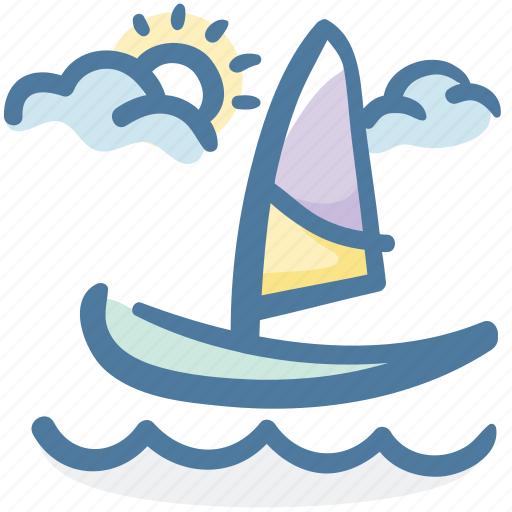 boat, holiday, sail, sailboat, sea, summer, travel icon