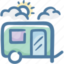 camping, caravan, travel, travel trailer icon
