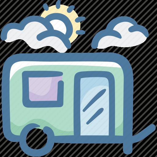 camping, caravan, travel, travel trailer icon