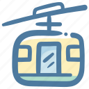 cable transport, gondola lift, ski lift, skiing, transport, transportation, travel icon
