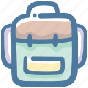 backpack, hike, hiking, sleeping bag, travel icon