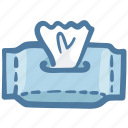 roll, toilet, paper, outline, doodle icon