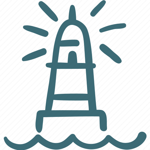 beacon, beam, guidance, guide, lighthouse, navigation, ocean, sea icon