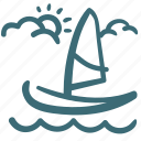 boat, holiday, sail, sailboat, sea, summer, travel icon