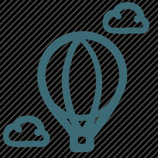 balloon, flight, sightseeing flight, sky, transport, travel icon